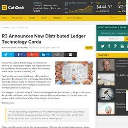 R3 Announces 'Corda', an Anti-Blockchain for Banks