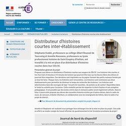 Distributeur d'histoires courtes inter-établissement — Site Prof-doc
