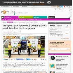 Ikea pousse ses followers à tweeter grâce à un distributeur de récompenses