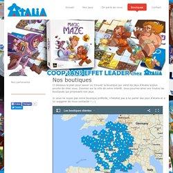 Atalia, distributeur de jeux de société en France - Boutiques