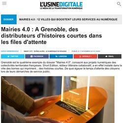Mairies 4.0 : A Grenoble, des distributeurs d'histoires courtes dans les files d'attente