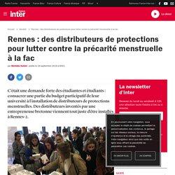 Rennes : des distributeurs de protections pour lutter contre la précarité menstruelle à la fac