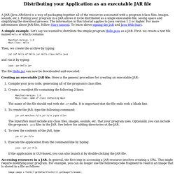 Distributing your Application as an Executable JAR file