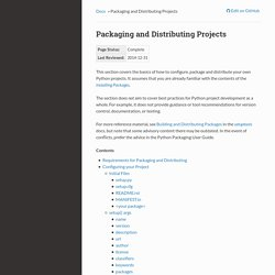 Packaging and Distributing Projects — Python Packaging User Guide documentation