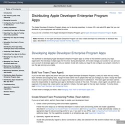 Distributing Apple Developer Enterprise Program Apps