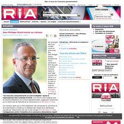 Grande distribution : Jean-Philippe Girard monte au créneau - Actualités - - RIA