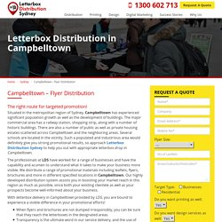 Flyer and Letterbox Distribution in Campbelltown, Sydney
