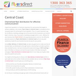 Flyer Drops and Delivery Central Coast