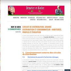 Circuit de distribution, grande distribution et consommateur : habitudes, profils et évolution