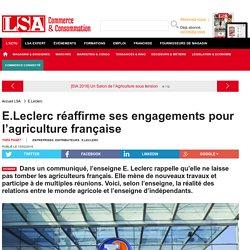 E.Leclerc réaffirme ses engagements pour... - Grande Distribution et consommation