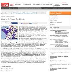 La carte de France des drive-in - Dossiers LSA Conso