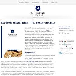 Étude de distribution – Pleurotes urbaines