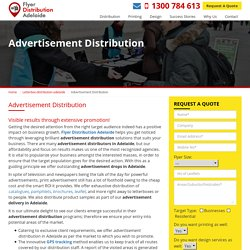 Advertising Distribution Adelaide