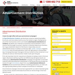 "Letterbox Advertising Distribution with ""Flyer Distribution Canberra"""
