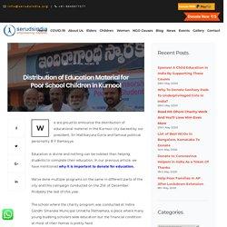 Distribution of Education Material for Poor School Children in Kurnool