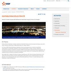 Distribution d'électricité - Groupe EDF