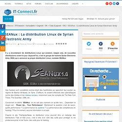 SEANux : La distribution Linux de Syrian Electronic Army
