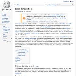 Taleb distribution