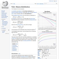 Yule–Simon distribution