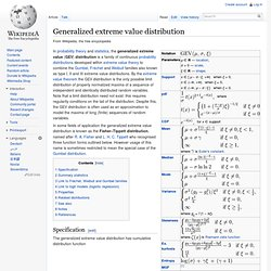 Generalized extreme value distribution