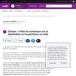 Cinéma : l'effet du numérique sur la distribution et l'exploitation en salle