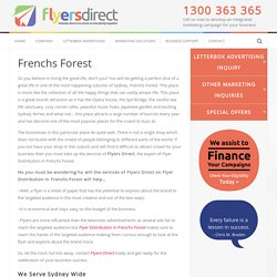 Flyer Drops and Delivery Frenchs Forest