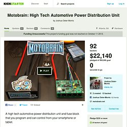 Motobrain: High Tech Automotive Power Distribution Unit by Joshua Oster-Morris