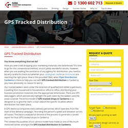 Distribution Your Business Flyers and Track it by GPS System