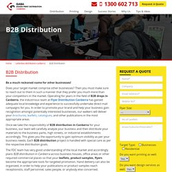 Targeted Audience with B2B Distribution in Canberra