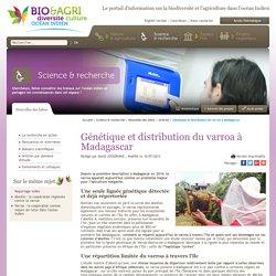BIO & AGRI OCEAN INDIEN 10/07/13 Génétique et distribution du varroa à Madagascar
