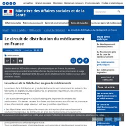 Le circuit de distribution du médicament en France