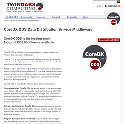 CoreDX DDS Data Distribution Service Middleware