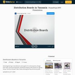 Distribution Boards in Tanzania PowerPoint Presentation, free download - ID:10000745