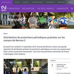Distribution de protections périodiques gratuites sur les campus de Rennes 2
