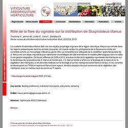 Revue suisse de viticulture arboriculture horticulture 45(4), 222-228, 2013 Rôle de la flore du vignoble sur la distribution de