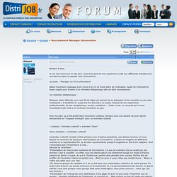 Distrijob.fr : Forum Grande distribution et Distribution spécialisée: Recrutement Manager Chronodrive