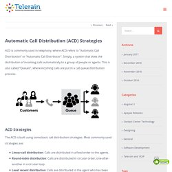 Automatic Call Distribution (ACD) Strategies