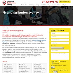 Flyer Distribution in Sydney - Attractive Flyer Printing and Design