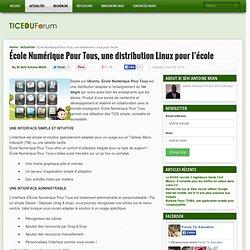 École Numérique Pour Tous, une distribution Linux pour l'école