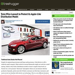 Tesla Wins Lawsuit to Protect its Apple-Like Distribution Model