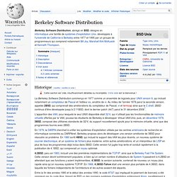 Berkeley Software Distribution