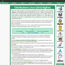 K> Distributions Linux légères et ultra-légères - Infos Linux lliseil