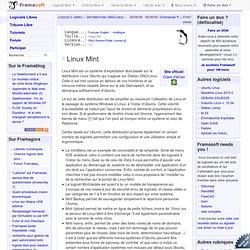 Linux Mint - Distributions GNU/Linux