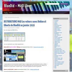 DISTRIBUTIONS MAO Les valeurs sures Debian et Ubuntu de BlueDid en janvier 2016