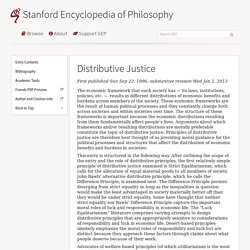 Distributive justice [SEP]
