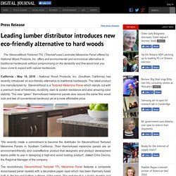 Leading lumber distributor introduces new eco-friendly alternative to hard woods