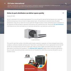 Online Ac parts distributors can deliver spares quickly