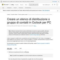 Creare un elenco di distribuzione o gruppo di contatti in Outlook per PC