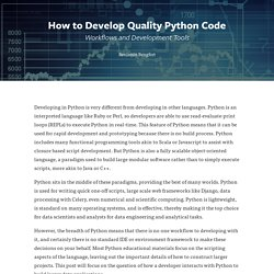 District Data Labs - How to Develop Quality Python Code