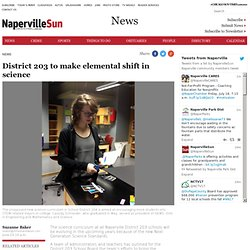District 203 to make elemental shift in science